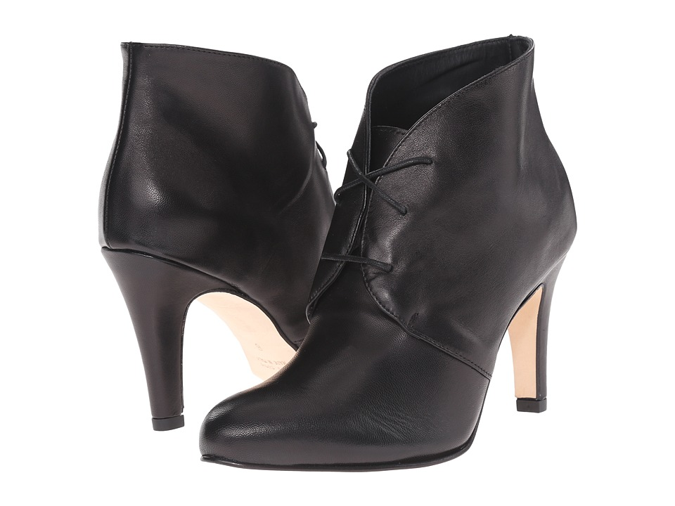 Massimo Matteo - Lace-Up Heel Bootie (Black) Women's Lace-up Boots