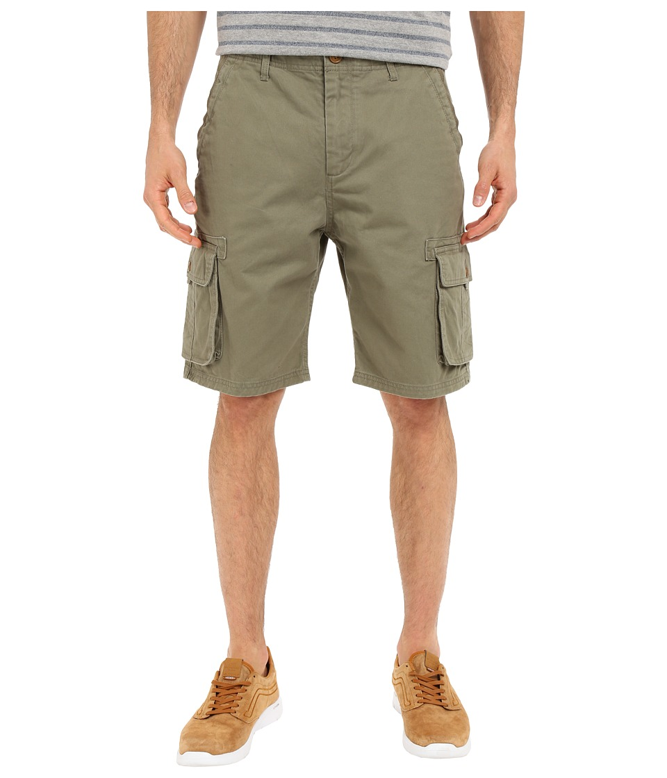 Quiksilver - Deluxe Cargo Walkshorts (Dusty Olive) Men's Shorts
