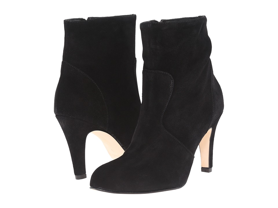 Massimo Matteo - Bootie with Heel (Black Suede) Women's Boots
