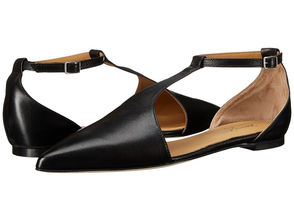 Massimo Matteo - Flat T-Strap (Black) Women's Flat Shoes