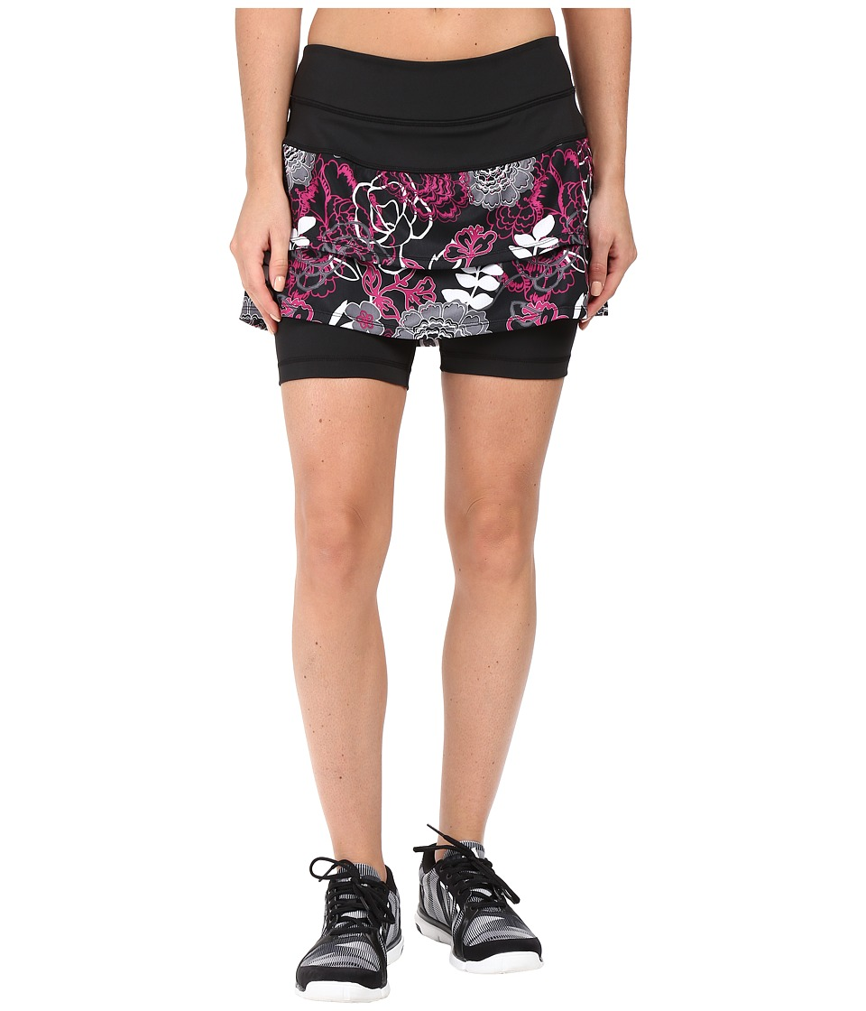 Skirt Sports - Cascade Skirt (Black/Enchanted Print) Women's Skort