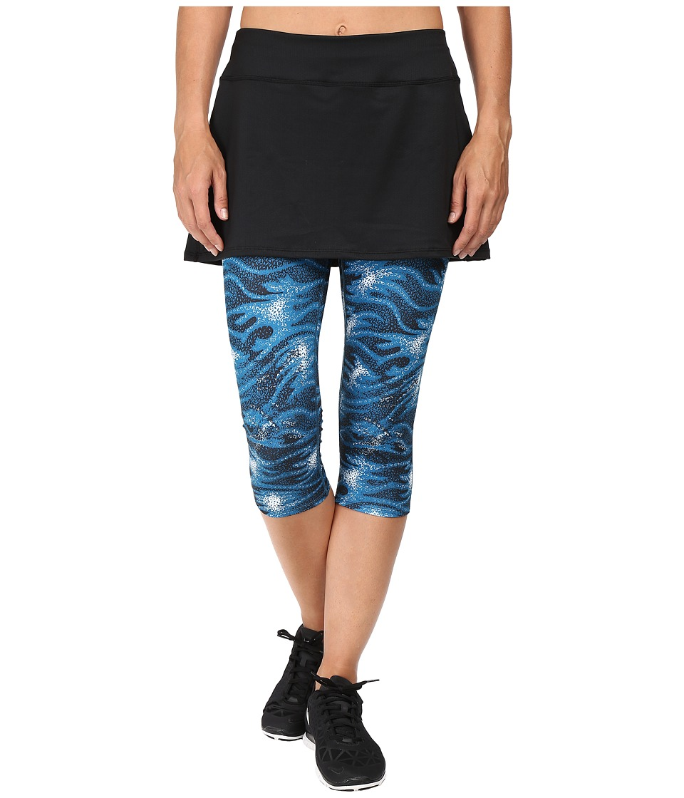 Skirt Sports - Lotta Breeze Capri (Stargaze Print/Black) Women's Skort