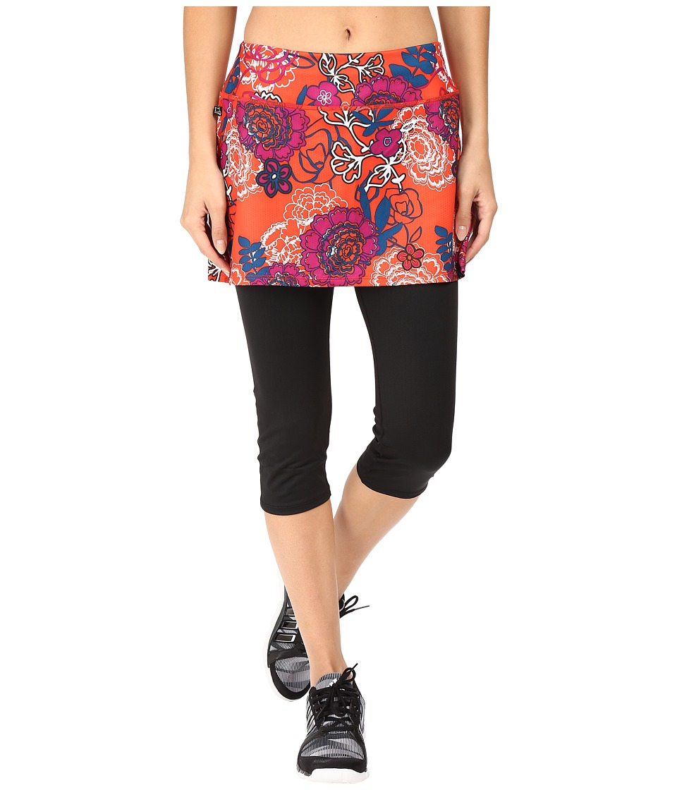 Skirt Sports - Lotta Breeze Capri (Black/Frolic Print) Women's Skort