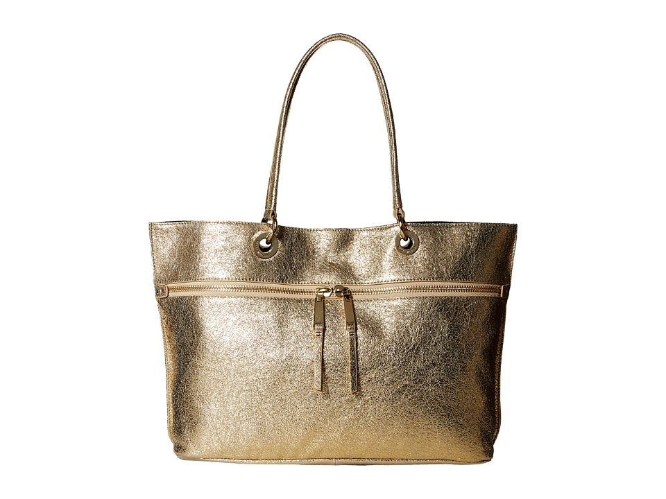Tommy Hilfiger - Camille-Tote-Cracked Leather (Metallic Gold) Tote Handbags