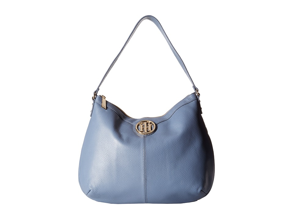 Tommy Hilfiger - Maggie-Hobo-Pebble Leather (French Blue) Hobo Handbags