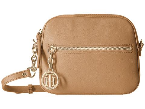 Tommy Hilfiger - Sharon-Camera Crossbody-Textured Leather (Caramel) Cross Body Handbags