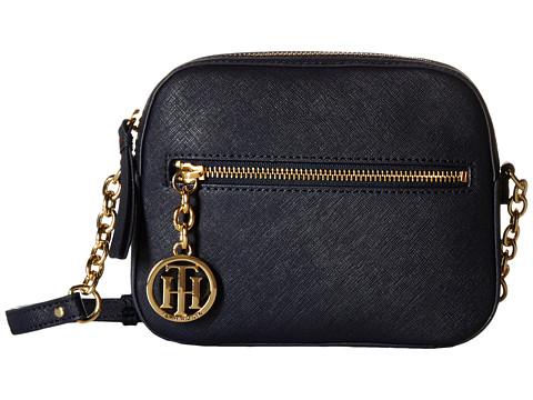Tommy Hilfiger - Sharon-Camera Crossbody-Textured Leather (Tommy Navy) Cross Body Handbags