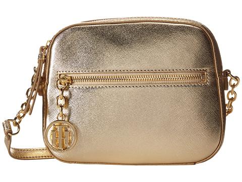 Tommy Hilfiger - Sharon-Camera Crossbody-Textured Leather (Metalic Gold) Cross Body Handbags