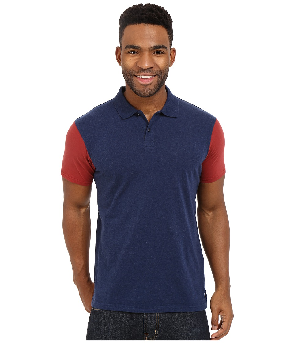 Quiksilver - Baysick Polo Knit Top (Navy Blazer Heather) Men's Short Sleeve Pullover