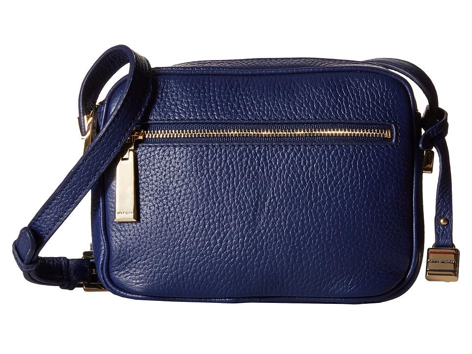 Tommy Hilfiger - TH Hinge-Mini Crossbody-Pebble (Cobalt) Cross Body Handbags