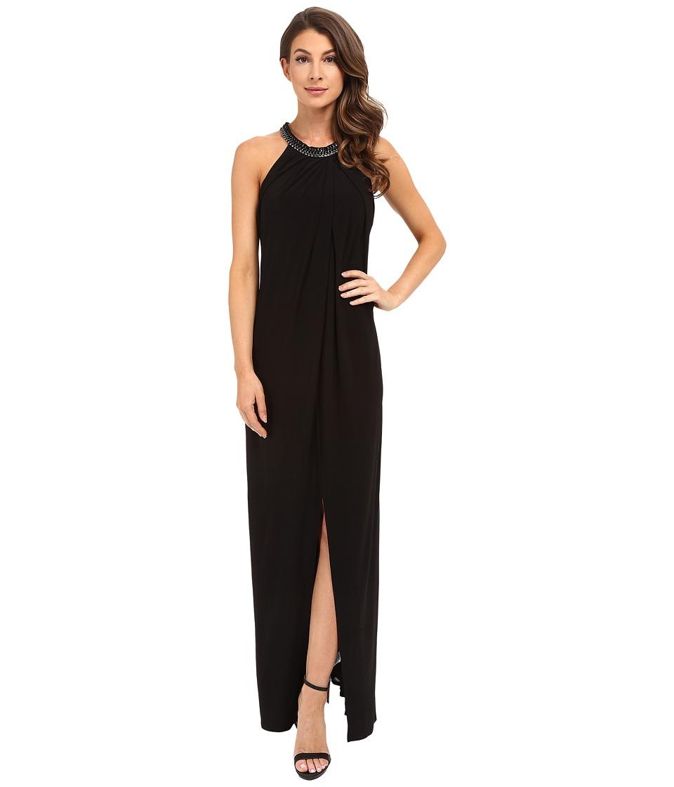 Laundry by Shelli Segal Matte Jersey Sleeveless Gown (Black) Women
