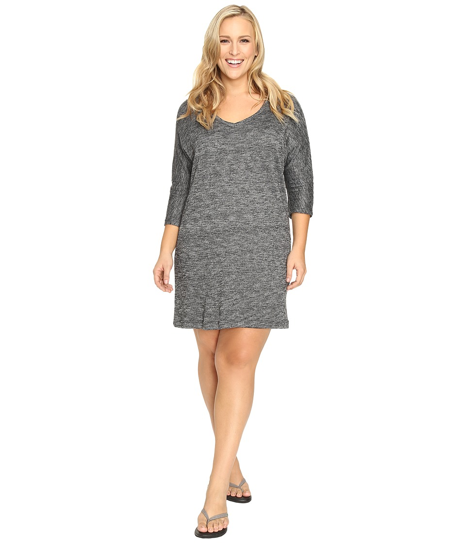 Soybu Plus Size Rosa Dress (Black Heather) Women