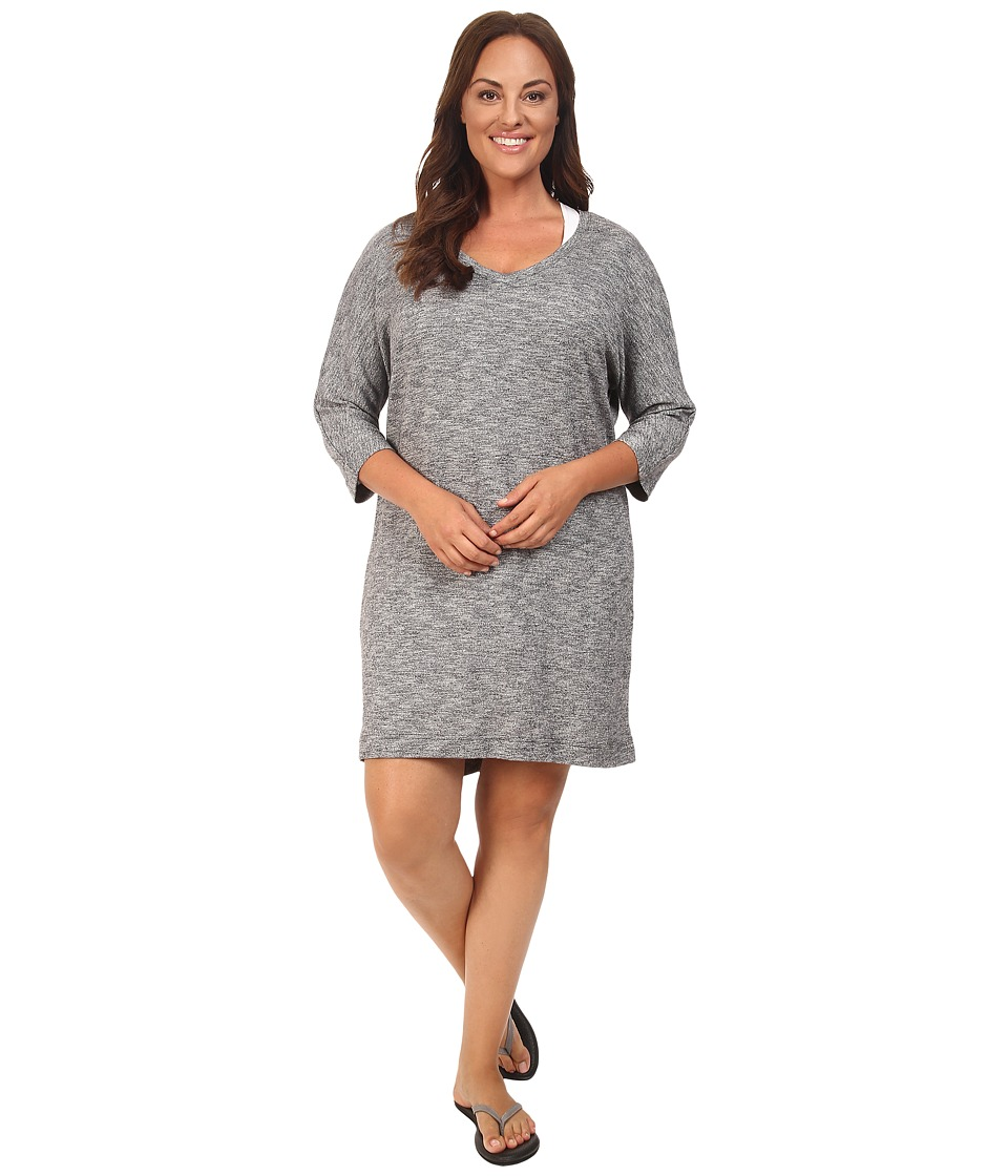Soybu Plus Size Rosa Dress (Grey Heather) Women
