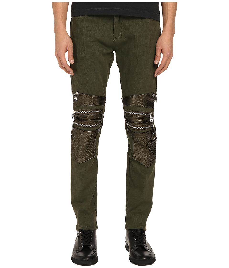 God's Masterful Children - Camello Biker Jeans (Army Green) Men's Jeans