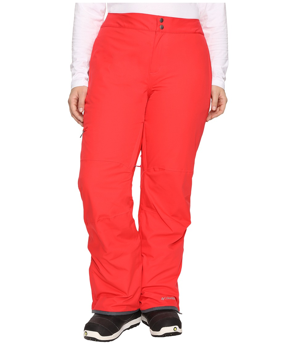 Columbia - Plus Size Veloca Vixen Pants (Red Camellia) Women's Outerwear