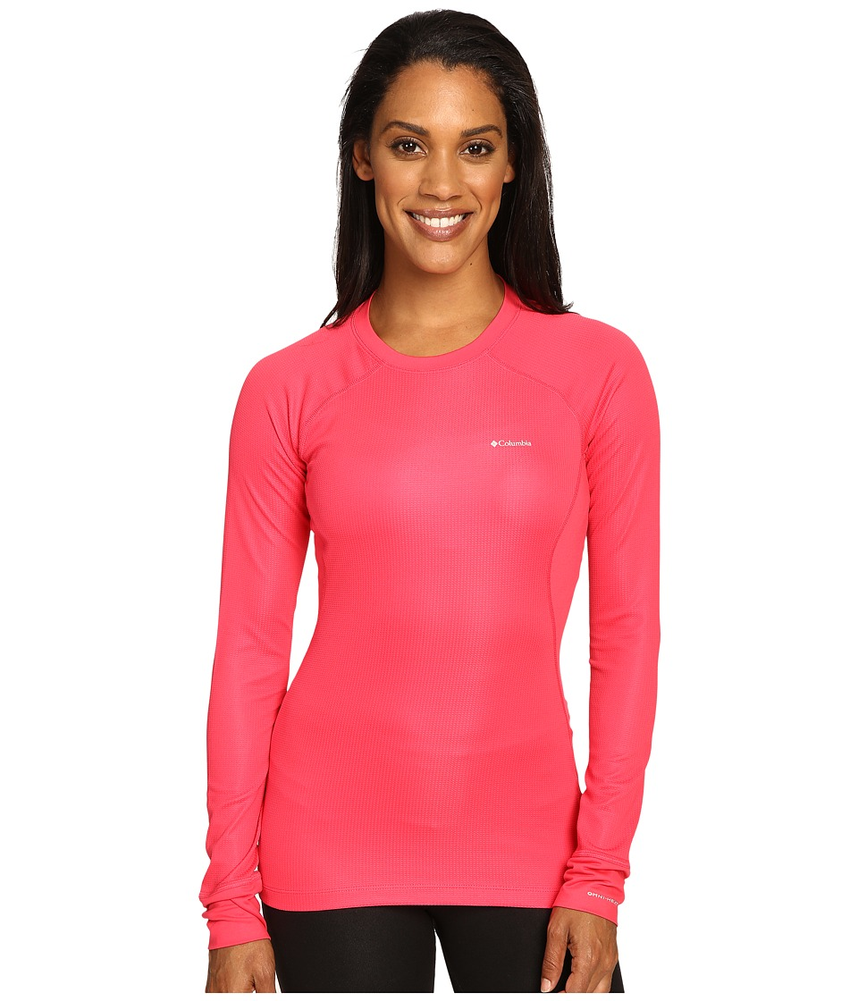 Columbia - Heavyweight II Long Sleeve Top (Punch Pink) Women's Long Sleeve Pullover