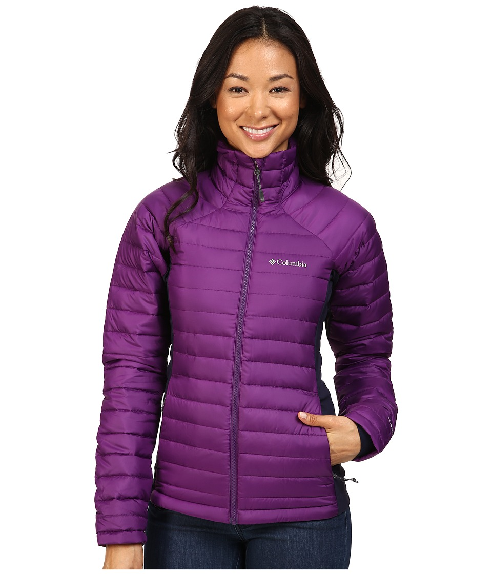 Columbia - Gold 750 TurboDowntm Hybrid Jacket (Iris Glow/Ebony Blue) Women's Coat