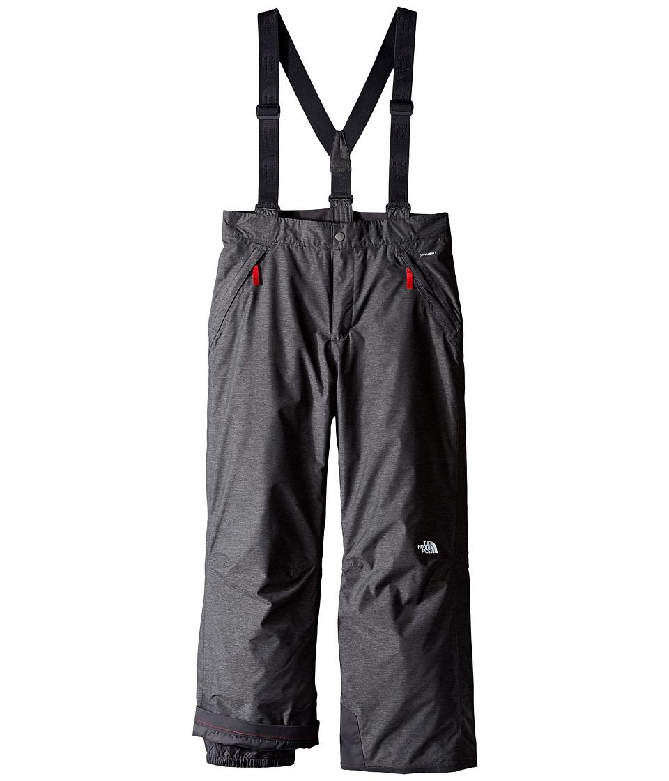 The North Face Kids - Snowquest Suspender Pants (Little Kids/Big Kids) (TNF Medium Grey Heather) Boy's Outerwear