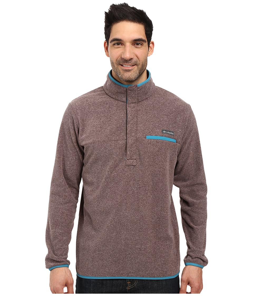Columbia - Mountain Side Fleece Jacket (New Cinder Heather/Deep Marine) Men's Coat