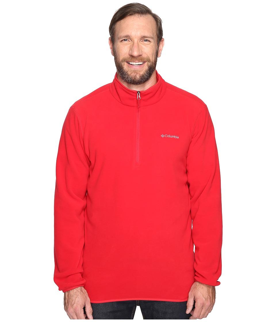 Columbia - Big Tall Ridge Repeat 1/2 Zip Fleece (Mountain Red) Men's Sweatshirt