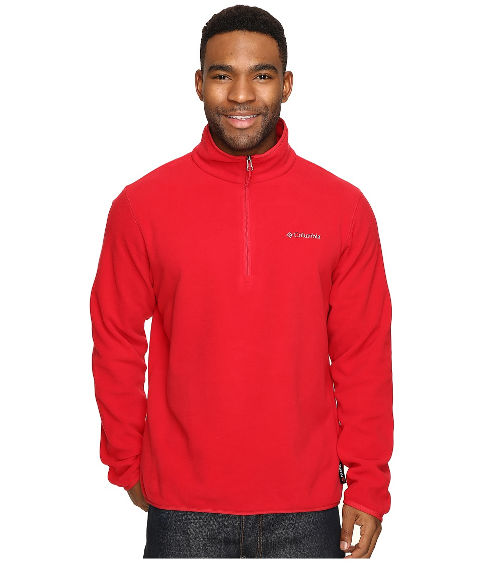 Columbia - Ridge Repeat Half Zip Fleece (Mountain Red) Men's Sweatshirt