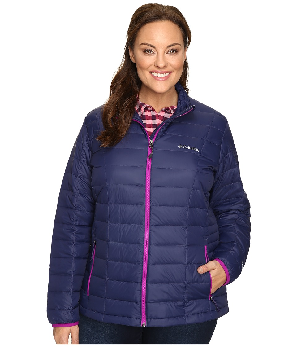 Columbia - Plus Size Voodoo Falls 590 TurboDown Jacket (Nightshade/Bright Plum) Women's Coat