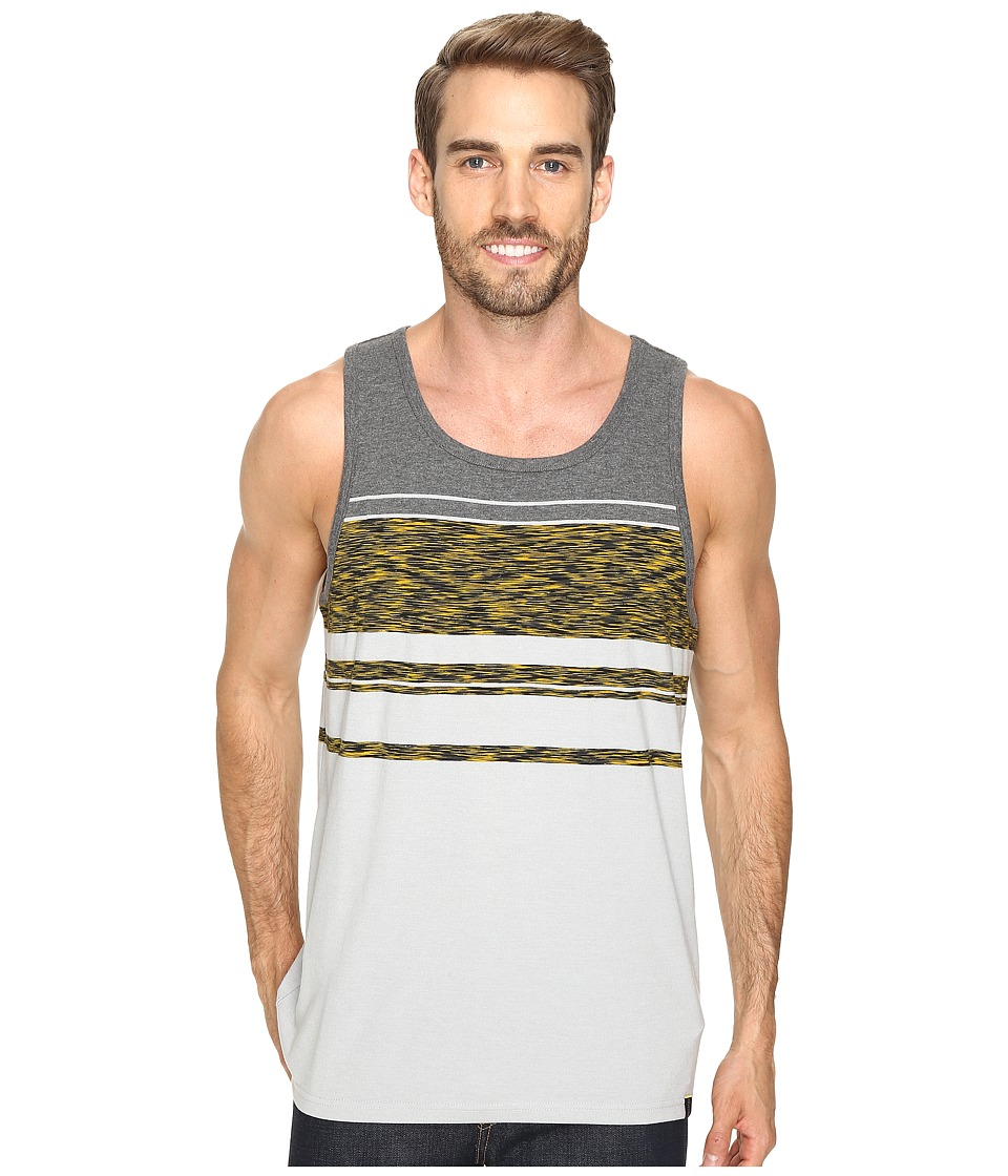 Prana - Throttle Tank Top (Silver Stripe) Men's Sleeveless
