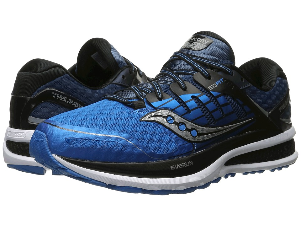 Saucony - Triumph ISO 2 (Blue/Black/Silver) Men's Shoes
