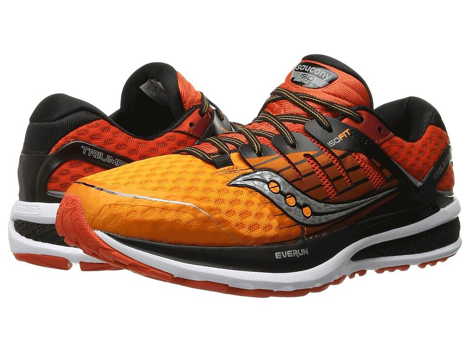 Saucony - Triumph ISO 2 (Red/Orange/Black) Men's Shoes