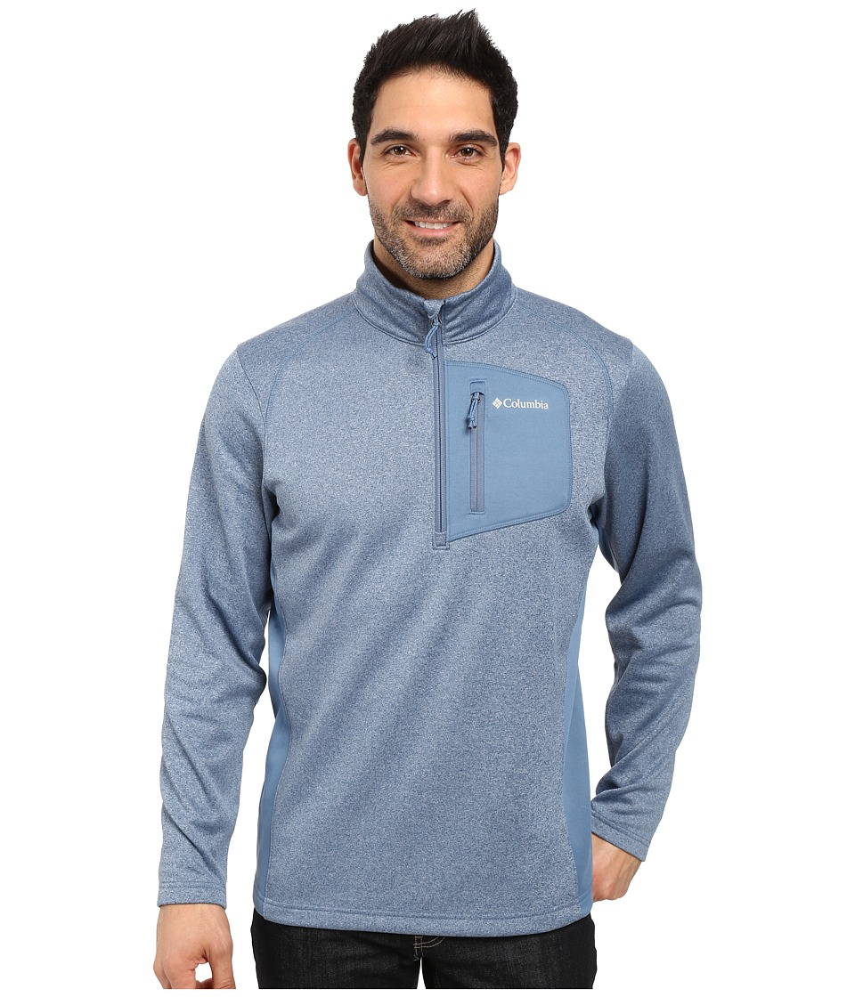 Columbia - Jackson Creek Half Zip (Steel Heather) Men's Long Sleeve Button Up