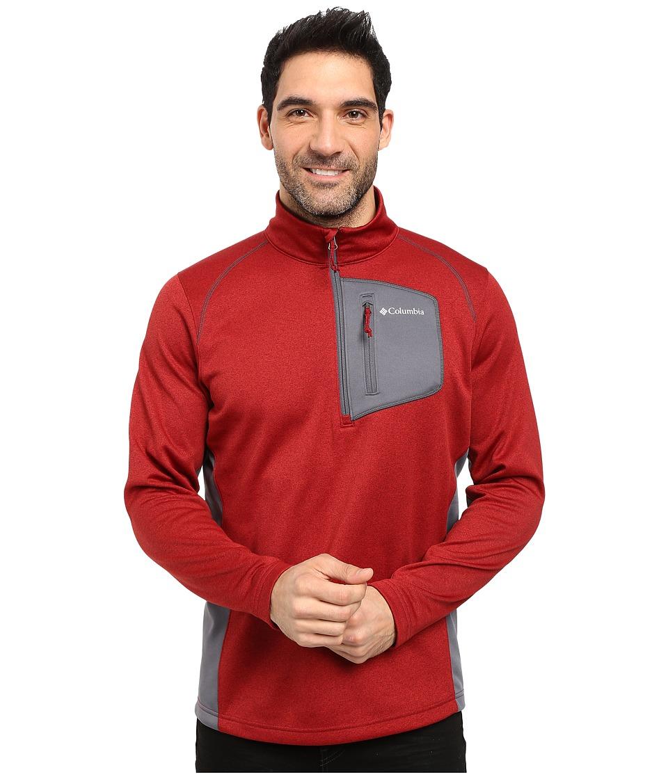 Columbia - Jackson Creek Half Zip (Red Element Heather/Graphite) Men's Long Sleeve Button Up