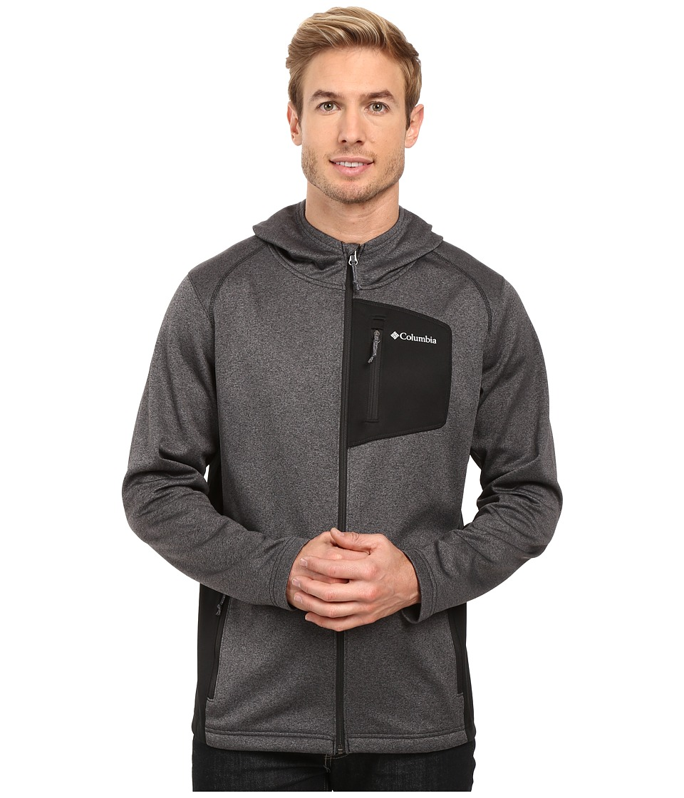 Columbia - Jackson Creek Hoodie (Black Heather) Men's Sweatshirt
