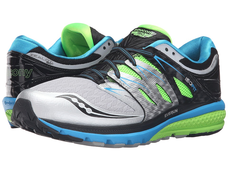 Saucony - Zealot ISO 2 (Blue/Slime/Silver) Men's Running Shoes
