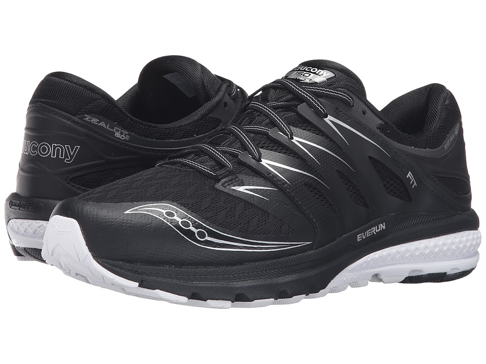 Saucony - Zealot ISO 2 (Black/White) Men's Running Shoes