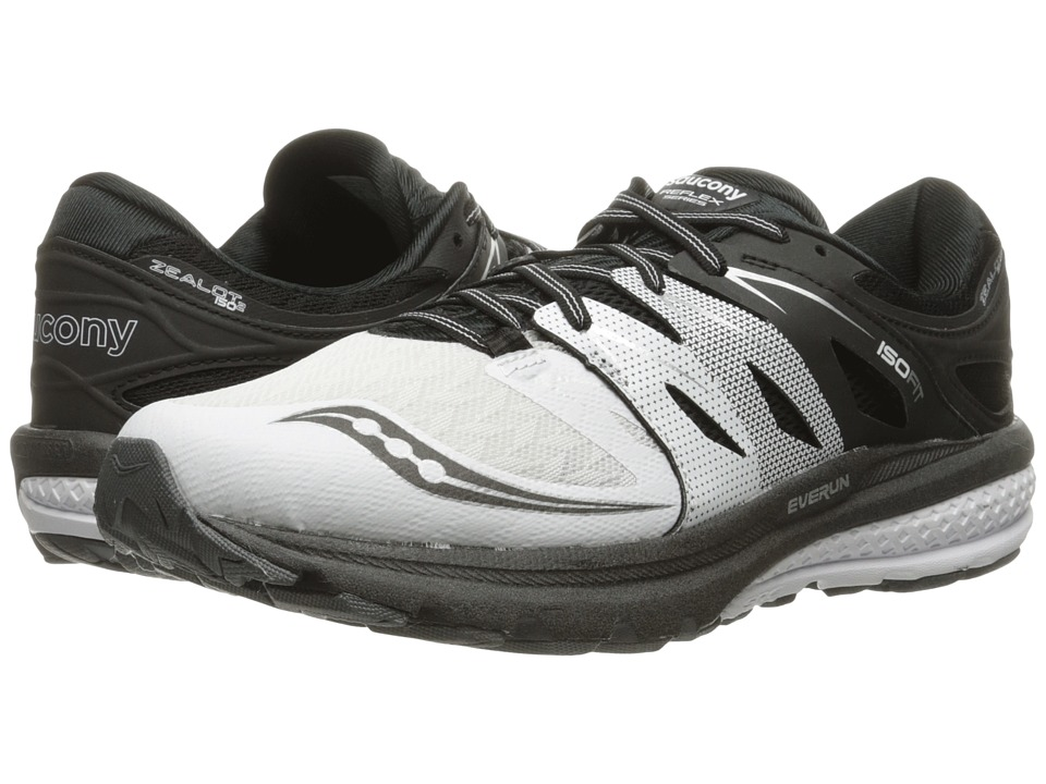 Saucony - Zealot ISO 2 (White/Black/Silver) Men's Running Shoes