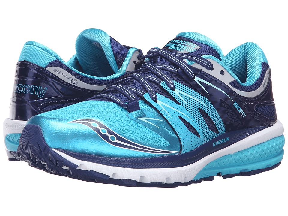 Saucony - Zealot ISO 2 (Navy/Blue/Silver) Women's Running Shoes