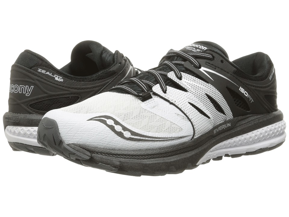 Saucony - Zealot ISO 2 (White/Black/Silver) Women's Running Shoes