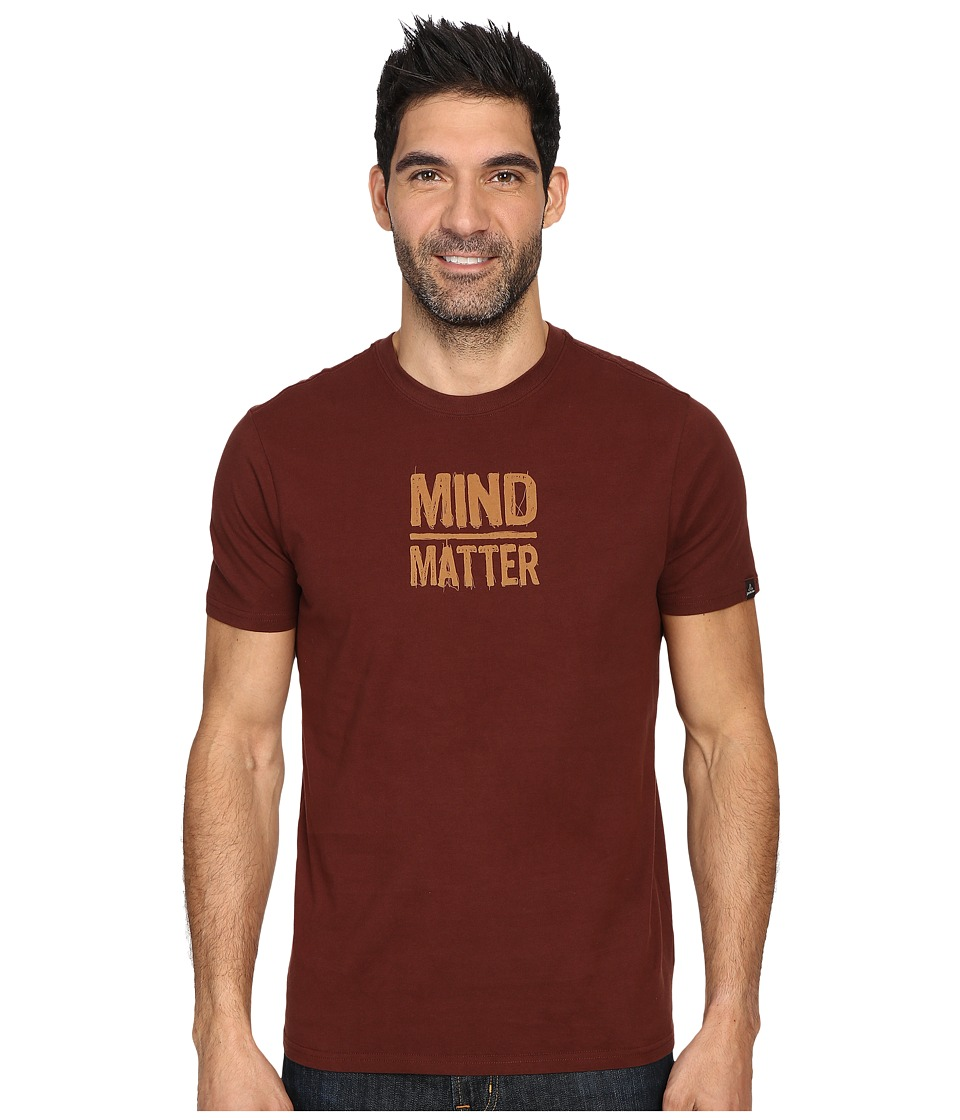Prana - Mind/Matter T-Shirt (Dark Umber) Men's Short Sleeve Pullover