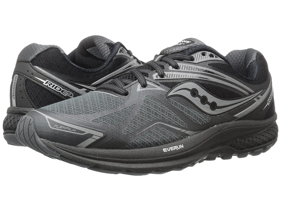 Saucony - Ride 9 (Black/Silver) Men's Running Shoes