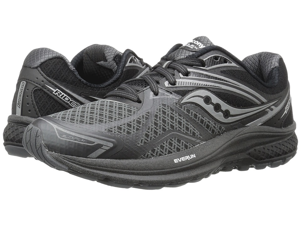 Saucony - Ride 9 (Black/Silver) Women's Running Shoes