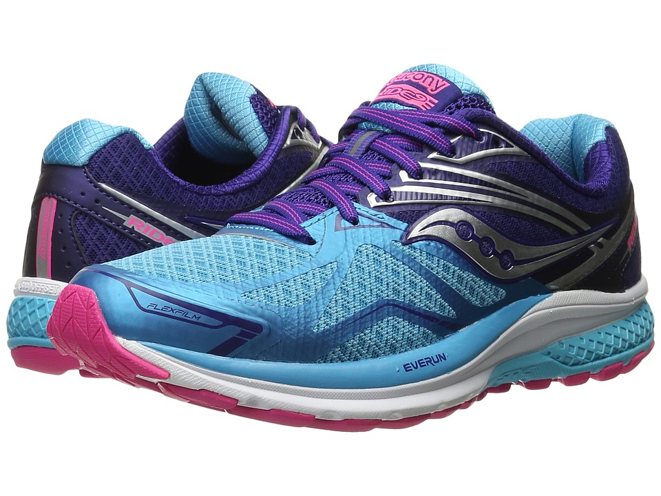 Saucony - Ride 9 (Navy/Blue/Pink) Women's Running Shoes