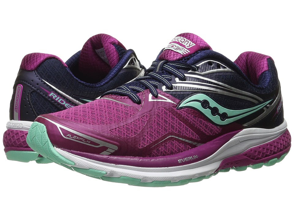 Saucony - Ride 9 (Purple/Blue/Mint) Women's Running Shoes