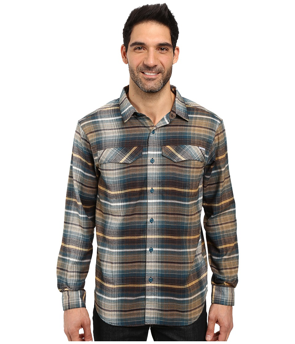 Columbia - Silver Ridge Flannel Long Sleeve Shirt (New Cinder Ombre Plaid) Men's Long Sleeve Button Up