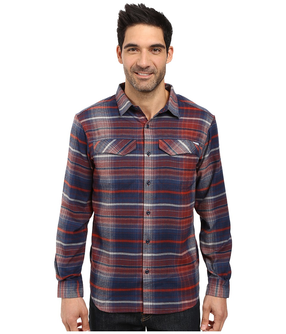 Columbia - Silver Ridge Flannel Long Sleeve Shirt (Rust Red Ombre Plaid) Men's Long Sleeve Button Up