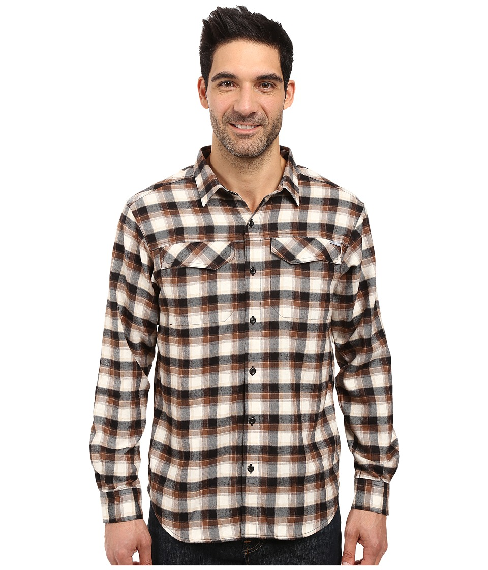 Columbia - Silver Ridge Flannel Long Sleeve Shirt (Black Mid Plaid) Men's Long Sleeve Button Up