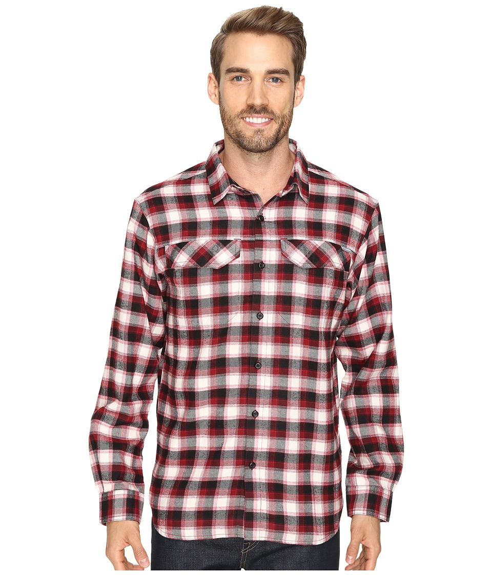 Columbia - Silver Ridge Flannel Long Sleeve Shirt (Red Element Mid Plaid) Men's Long Sleeve Button Up