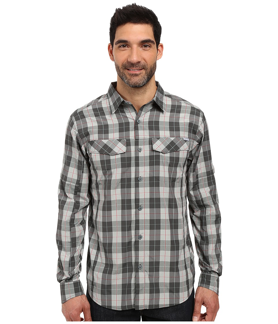Columbia - Silver Ridge Plaid L/S (Pond Heathered Plaid) Men's Long Sleeve Button Up