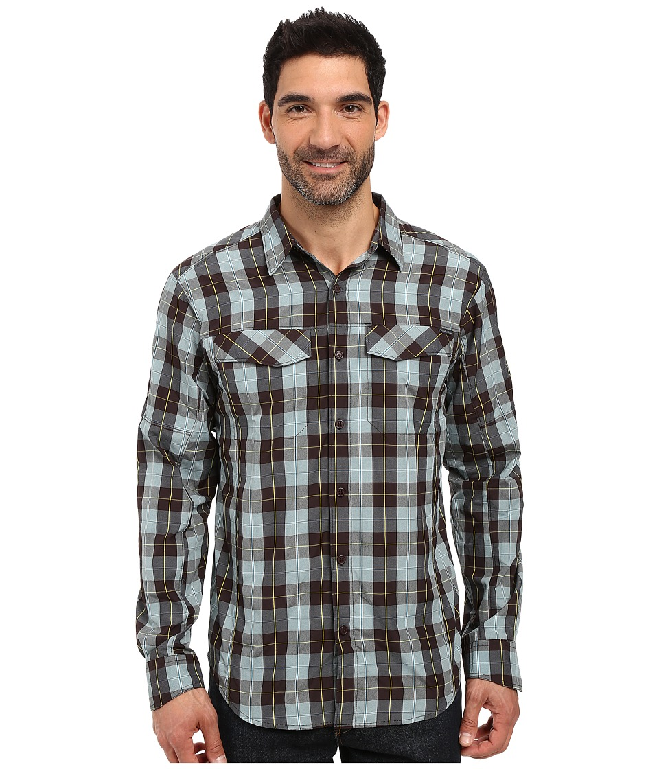 Columbia - Silver Ridge Plaid L/S (New Cinder Heathered Plaid) Men's Long Sleeve Button Up