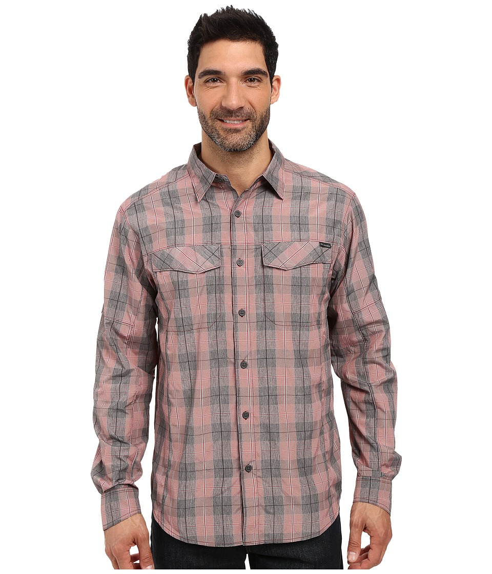 Columbia - Silver Ridge Plaid L/S (Red Element Heahtered Plaid) Men's Long Sleeve Button Up