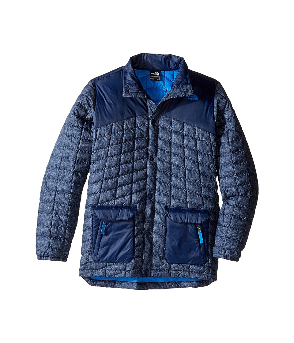 The North Face Kids - Hayden ThermoBall Jacket (Little Kids/Big Kids) (Cosmic Blue Denim Print) Boy's Coat